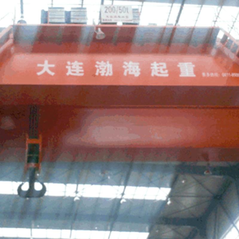 中国有色(沈阳)泵业有限公司QD200/50t欧式起重机使用现场