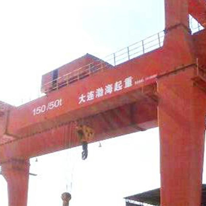中国一重昆明石化150/50t-26.5m起重机使用现场